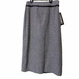 Sag Harbor 14 Herringbone Long Pencil Skirt